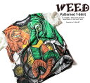 WEED シワ加工 和柄 デザインTシャツ GANESHA ガネーシャ【デザインTシャツ クシャクシャ加工 イラストTシャツ メンズ 和柄Tシャツ 半袖Tシャツ 夏 ストリート系Tシャツ ユーズド風 】weed012