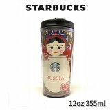 【直輸入正規品】スターバックス マトリョーシカ タンブラー 12oz(355ml) スタバ StarbucksCoffee ロシア