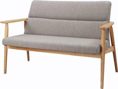 ゆったりくつろげる2P椅子ラブソファ天然木製ひじ付きリビングソファ木製肘掛け椅子2人掛けリビ...
