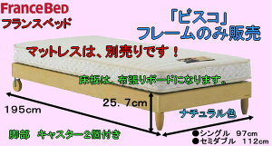 フランスベット製シングルベッドフレームのみ