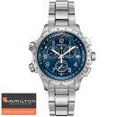 ハミルトン腕時計X-WindクロノグラフChronoQuartzGMTカーキX-ウィンドGMTH77922141国内正規品