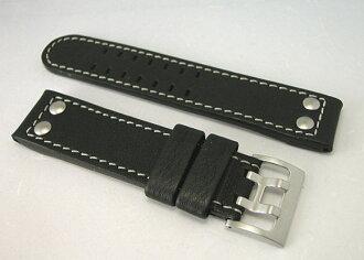 HAMILTON ハミルトンカーキオフィサー black Cafe belt 22 mm