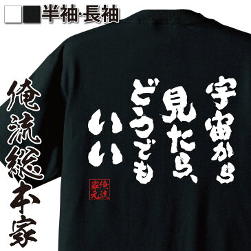 tシャツ メンズ 俺流 魂心Tシャツ【宇宙から見たら、どうでもいい】名言 漢字 文字 メッセージtシャツ おもしろ雑貨 | 文字tシャツ 面白 大きいサイズ 文字入り プレゼント バックプリント 外タモリ