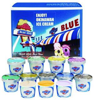 送料無料お中元・ギフトに♪ギフトセット12・沖縄限定ブルーシールアイスクリーム