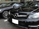 メルセデスベンツCクラスW204SLスタイルフロントグリル黒(ブラック)C180C200C230C250C300