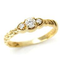 K18(18金)ゴールドYGダイヤモンド指輪s10レディースダイヤ(4月誕生石)ジュエリー天然石宝石【楽ギフ_包装】ダイアモンドファッションリングプレゼント贈り物1点もの【ssent】クリスマス