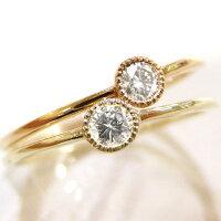 1粒モチーフリングダイヤモンドK10PGkin_sm06093レディース1粒リングダイヤモンド