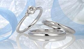 星の砂HOSHInoSUNASpica(スピカ)レディースダイヤモンドマリッジリング【1本画像上】ペアリング結婚指輪spica01