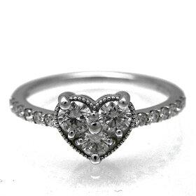 ファッションリングPTプラチナダイヤモンド指輪eiko60981790レディースダイヤ(4月誕生石)