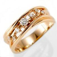 K18PGピンクゴールドダイヤモンドリング0.16ctKINE326167