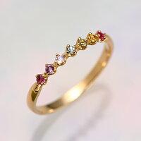ファッションリングK10(10金)イエローゴールドYGピンクゴールドPGホワイトゴールドWGエタニティー指輪yk-38-amレディースアミュレットガーネットアメジストトパーズペリドットシトリンtowa売れ筋プレゼント贈り物