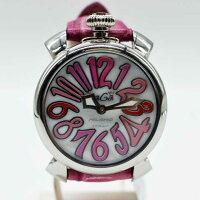 【GaGaMilano】ガガミラノレディース腕時計マヌアーレ40MM5020/ピンクベルト【】