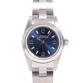 【ROLEX】ロレックスレディース腕時計SS76080/文字盤・青【中古】