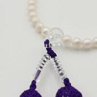 念誦念珠数珠パール真珠念珠5.7〜6mm【新品・未使用】
