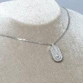 K18WGダイヤペンダント付ネックレスD0.55ct/6.5g/40cm【中古】