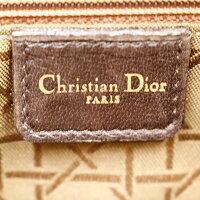 【ChristianDior】クリスチャンディオールレディディオールハンドバッグカーフレザー/ダークブラウン/ゴールド金具【中古】