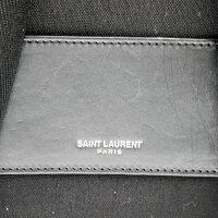 【SAINTLAURENT】サンローランキャンバスバックパックFLY534968.0418/ブラック【中古】