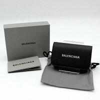 【BALENCIAGA】バレンシアガエブリディアコーディオンカードケース・594225ブラック【新古品・未使用】