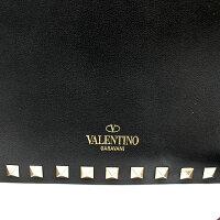 【VALENTINO】ヴァレンティノロックスタッズショルダーバッグブラック【中古】