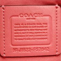【COACH】コーチシグネチャーPVCトートバッグF57842/ピンク×ブラウン【中古】