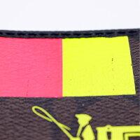 【COACH】コーチシグネチャーラウンドファスナーウォレットF52588/ブラウン×ブラック【中古】
