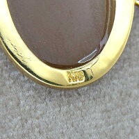 K18ネックレスカメオペンダント付ネックレスD0.02ct/5.8g【中古】
