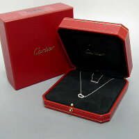 ★K18YG【Cartier】カルティエCハートダイヤ入りネックレス5.5g/箱入り【中古】送料込