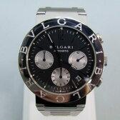 ★【BVLGARI】ブルガリブルガリ クロノグラフ BB38SSCH メンズ 腕時計 ブラック文字盤【中古】