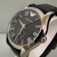 ★【EMPORIOARMANI】エンポリオアルマーニメンズ腕時計革ベルトAR-1708/ブラック【】