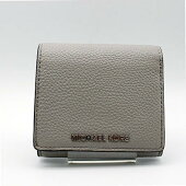 【MICHAELKORS】マイケルコース2つ折り財布32F8SF6D5LL/CEMENT(グレー系)【中古】