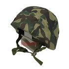 数量限定旧陸上自衛隊迷彩カバー付きヘルメット鉄帽ゴムなし