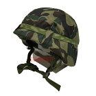 数量限定旧陸上自衛隊迷彩カバー付きヘルメット鉄帽ゴム付