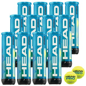 優れた耐久性と高いパフォーマンスを発揮HEAD PRO 4球入(ヘッド・プロ4球入)12缶/48球