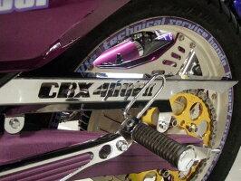 CBX400F2ロゴ入メッキチェーンカバー