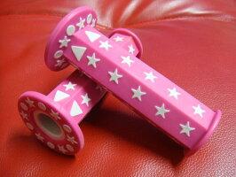 汎用六角グリップ星柄ピンク