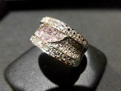PTピンクダイヤダイヤモンドリング/PD0.20ctD0.99ct/F6509/リング/指輪/ゆびわ/ring/ジュエリー/女性用/レディース/プレゼント/ギフト/お買い得/オススメ/送料込み/宝石