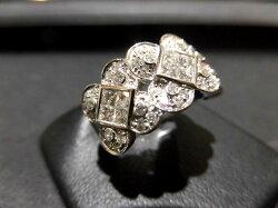K18WGダイヤモンドリング/D1.45ct/F9677/リング/指輪/ゆびわ/ring/ジュエリー/女性用/レディース/プレゼント/ギフト/お買い得/オススメ/送料込み/宝石
