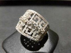 K18WGダイヤモンドリング/D1.13ct/F9702/リング/指輪/ゆびわ/ring/ジュエリー/女性用/レディース/プレゼント/ギフト/お買い得/オススメ/送料込み/宝石