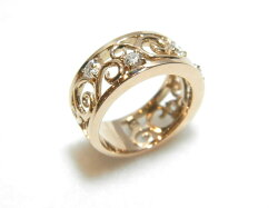 K18PGダイヤリング/F8422/リング/指輪/ゆびわ/ring/ジュエリー/ダイヤ/女性用/レディース/プレゼント/ギフト/お買い得/オススメ/送料込み/宝石