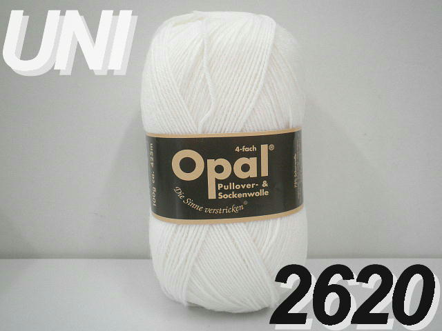 Opal 靴下用毛糸UNI単色4-fach【Opal各種3玉以上お買上げで】