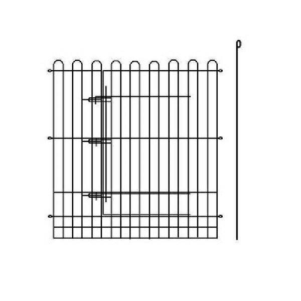【6面ブラックサークル用部品】ブラックサークルL用 単面 扉有りタイプ ピン付き (900mm×H1100mm)