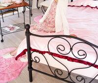 【送料無料】ブラックアイアンシングルベッドシンデレラベッドSBSK-919SS南欧風シングルベッド