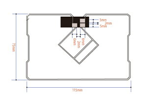 GPS一体型フィルムアンテナ両面テープセット地デジイクリプスAVN118MGF2Z1