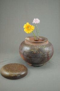 I-2焼締大丸2変化花器骨壷7号美術品として、又実際に花を生けたり、生前に楽しみ、最後に自分が愛用したものが骨壷!