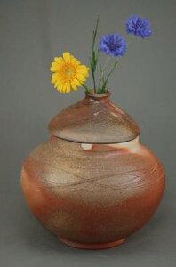 I-3焼締大丸3変化花器香炉骨壷7号美術品として、又実際に花を生けたり、生前に楽しみ、最後に自分が愛用したものが骨壷!