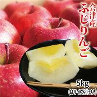ふじりんご5kg(Mサイズ18玉入)会津産