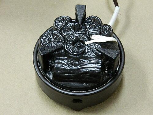 茶道具 裏千家ほか 遠赤外線 炭型ヒーター 電熱器風炉用 五徳あり電気炭YU001−C-3P強弱切替ス...