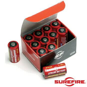 SUREFIRE(シュアファイア)純正3Vリチウム電池 SF123A12個入