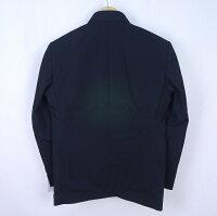 3985ウール混男子標準型学生服ラウンドカラー学ラン上着黒165A/170A/170E/175E/185E【新品】