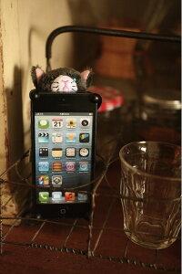 ふわふわ猫のぬいぐるみ iPhone カバー あなたを見守ります!【新商品】CHATTY 猫のiphoneカバ...